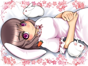 bunnies touhou bunny girls animal ears inaba tewi 1400x1050 wallpaper_www.wallpaperno.com_34